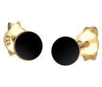 Ohrringe Kreis Basic Geo Trend 925 Silber Vergoldet