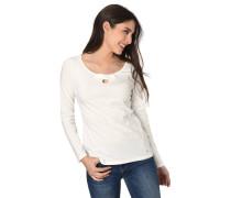 Langarmshirt, leicht tailliert, Cut-Out, dekorative Schleife