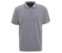 Polo-Shirt, Reißverschluss, fein gestreift, Kragen aus Baumwoll-Piqué