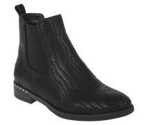 Chelsea Boots, Krokodil-Prägung, elastischer Saum