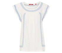 T-Shirt, Baumwolle, Flügelärmel, Stickerei