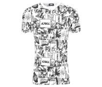 T-Shirt, Comic-Print, Jersey, Rundhalsausschnitt