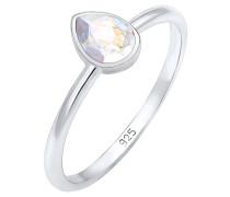 Ring Tropfen Swarovski® Kristalle Elegant 925