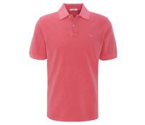 Polo-Shirt, Kurzarm, Baumwolle, Logo-Stickerei, uni