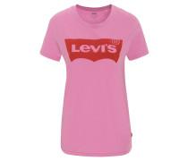 T-Shirt, Flock-Print, Runthalsausschnitt