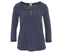 Shirt, 3/4-Arm, Baumwolle, Rundhalsausschnitt