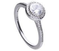 Ring, mit großem Zirkonia