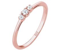 Ring Verlobungsring Diamant (0.07 Ct.) Zart 925 Silber