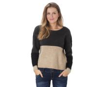 Pullover, Strick, zweifarbig, Schimmer-Details