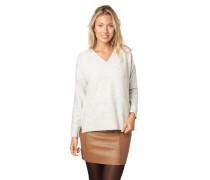 Pullover, verlängerter Rücken, V-Ausschnitt