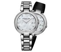 Shine Damenuhr, Wechselbänder, 57 Diamanten, Quarz, RW 1600