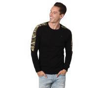 Langarmshirt, Camouflage-Details, reine Baumwolle
