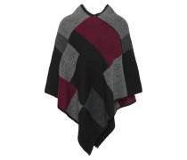 Poncho, geometrisch, V-Ausschnitt, Woll-Anteil