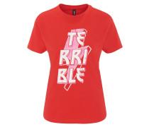 T-Shirt, Schrift-Print, reine Baumwolle