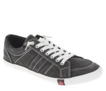 Sneaker, uni, Ziernaht, Canvas