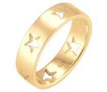 Ring Sterne Astro Cut Out Bandring 925 Sterling Silber