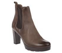 Chelsea Boots, Blockabsatz, elastischer Saum