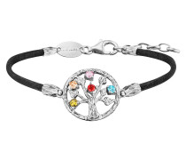 Armband Seide Schwarz, Lebensbaum