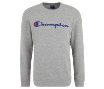 Sweatshirt, meliert, gummierter Print