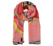 Schal, Streifen-Muster, leicht transparent