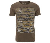 T-Shirt, Baumwolle, Front-Print, Emblem