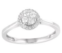 Ring 375 Weißgold, mit 29 Diamanten