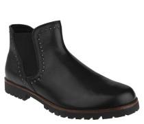 Chelsea Boots, Leder, Nieten, uni