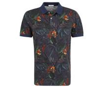 """Poloshirt """"Pietro"""", Baumwolle, Tropical Print, Seitenschlitze"""