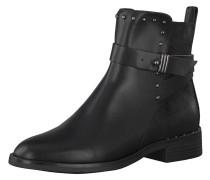 Ankle Boots, Zierriemen, Nieten, Materialmix