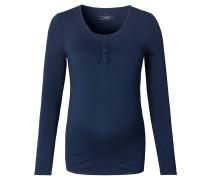 Still-Shirt, Knopfleiste, langarm, uni