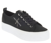 Sneaker, Plateau-Sohle, Logo-Print, Nylon