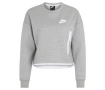 Sweatshirt, cropped, Reißverschlusstasche