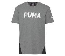 T-Shirt, Melange, Logo-Print