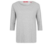 Shirt, 3/4-Arm, Lochstickerei, meliert
