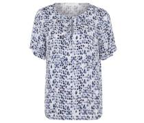 T-Shirt, Allover-Print, Knopf, Schlüssellochausschnitt