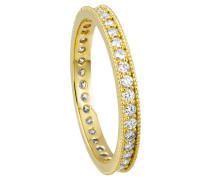 Ring 585 Gelb mit 36 Diamanten, zus. ca. 0,50 ct