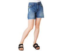 "Jeans-Shorts ""Mable"", Used Look, Kontrast-Nähte"