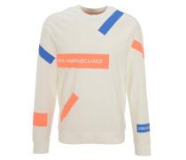 Sweatshirt, Print, Rippbündchen, Baumwolle