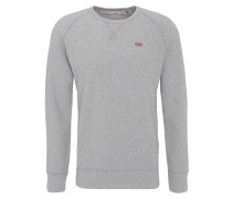 Sweatshirt, meliert, Raglan-Ärmel