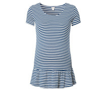 Umstands-T-Shirt, gestreift, Volants