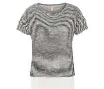 T-Shirt, 2-in-1-Look, überschnittene Schulter, feine Streifen