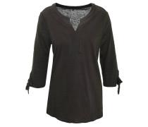 Shirt, 3/4-Arm, Split-Neck, Flammgarn-Effekt