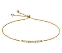 Armband mit Diamanten, Gelb 375, zus. ca. 0