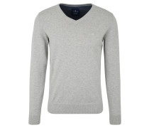 Pullover, Strick, V-Ausschnitt, Baumwolle