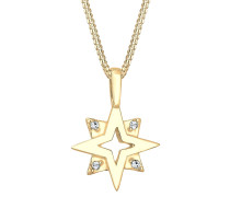 Halskette Sterne Swarovski® Kristalle 925 Sterling Silber