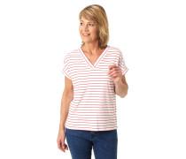 """T-Shirt """"Cosima"""", Relaxed Fit, gestreift, Ärmel-Umschlag"""