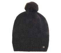 Mütze, Bommel, Marken-Emblem