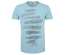 T-Shirt, Baumwolle, Print, meliert