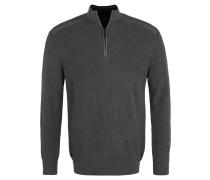 Pullover, Strick, Troyer-Look, Rippbündchen, Label-Applikation