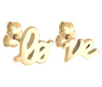 Ohrringe Love Statement Schriftzug Liebe Silber Veret
